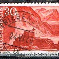 Sellos: LIECHTENSTEIN IVERT Nº 345, CASTILLO DE GURENBERG, USADO. Lote 247404270