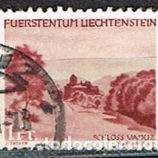 Sellos: LIECHTENSTEIN IVERT Nº 210 (AÑO 1944), PAISAJES: VADUZ, USADO. Lote 247405985