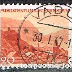 Sellos: LIECHTENSTEIN IVERT Nº 203 (AÑO 1944), PAISAJES: VADUZ, USADO. Lote 247406110