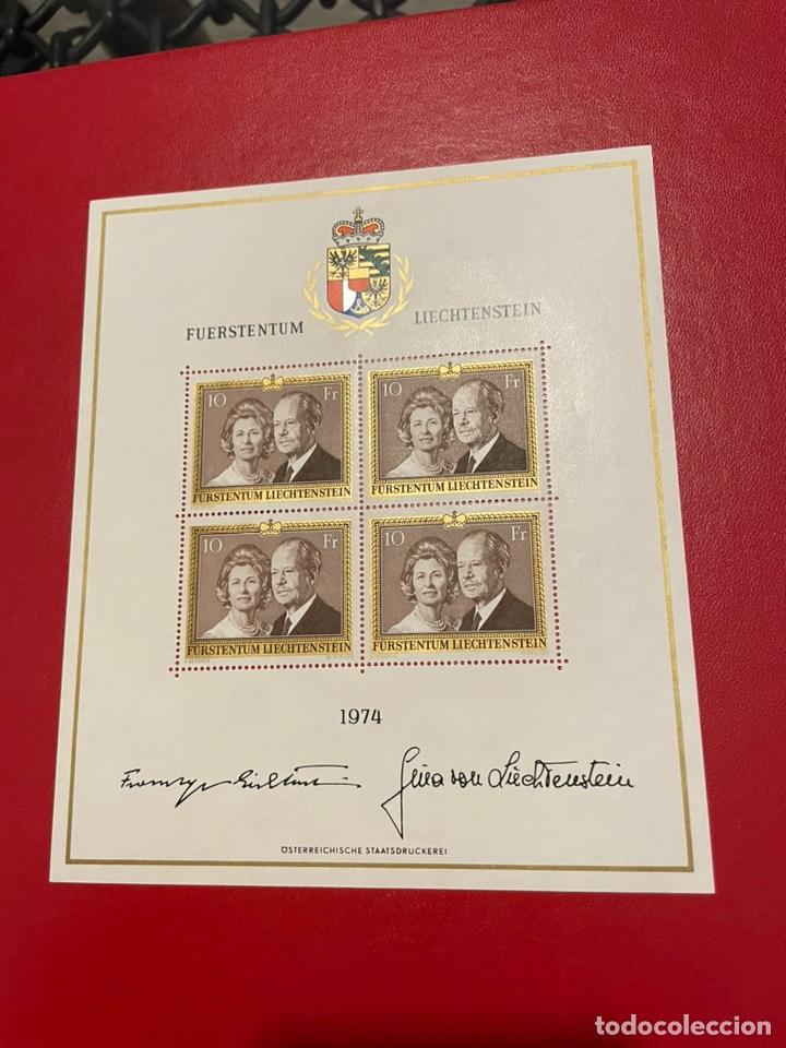 LIECHTENSTEIN AÑO 1974 YV 557** HB - PRÍNCIPES FCO. JOSÉ II Y GINA - PERSONAJES (Sellos - Extranjero - Europa - Liechtenstein)