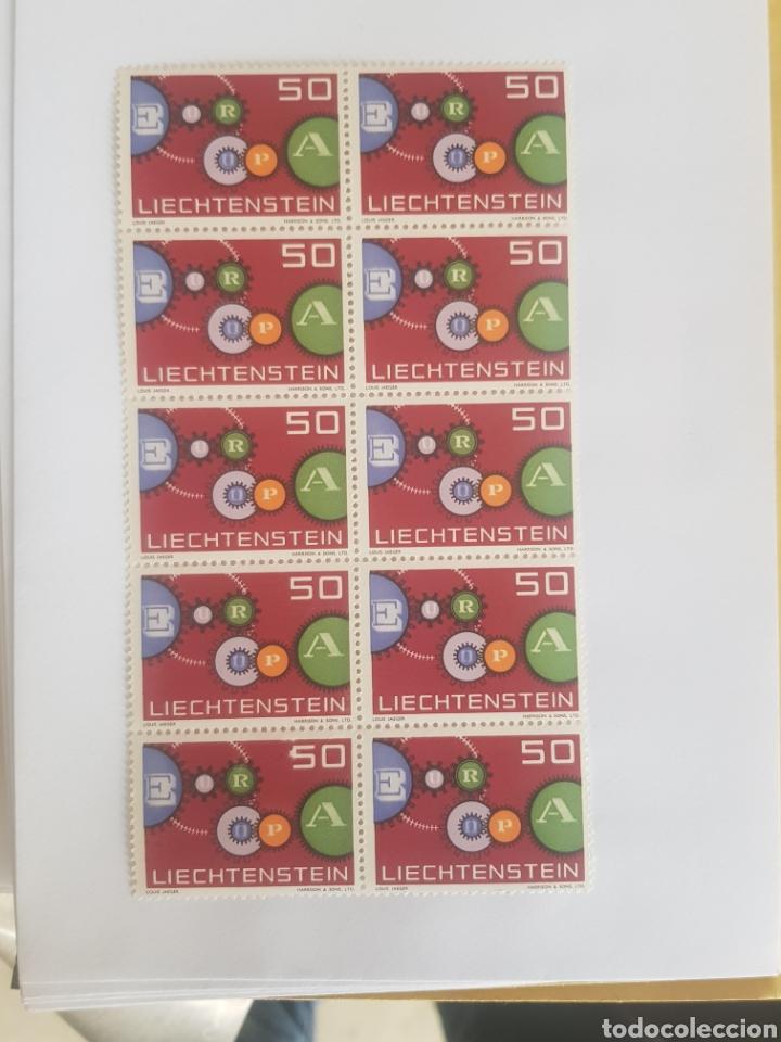 LIECHTENSTEIN SERIE EUROPA 1961..10 UNID. (Sellos - Extranjero - Europa - Liechtenstein)
