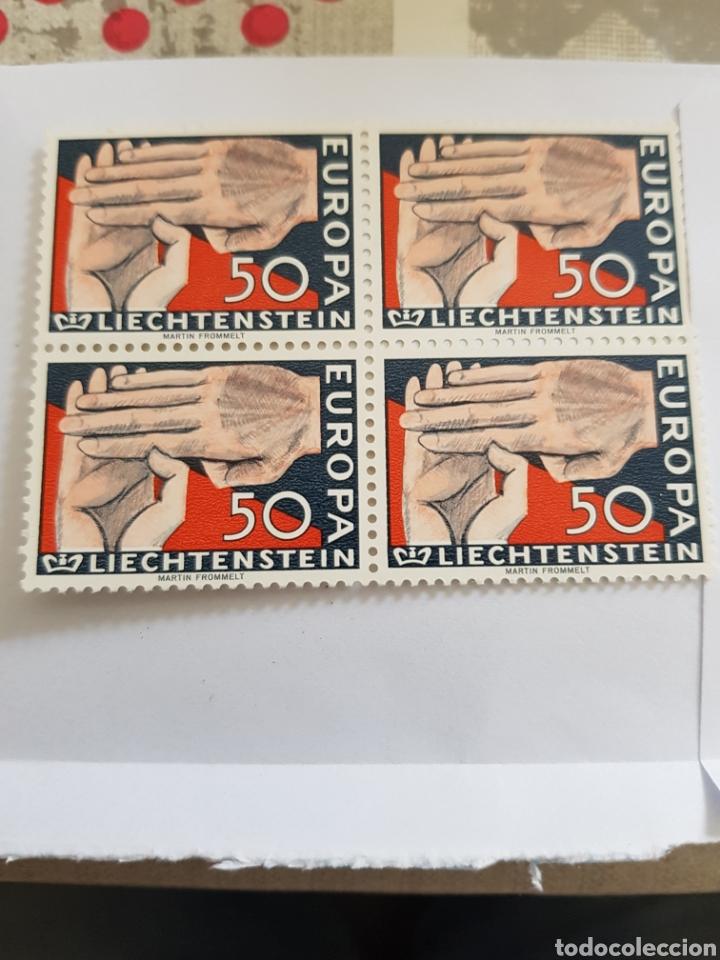 LIECHTENSTEIN SERIE EUROPA 1962...4 UNID. (Sellos - Extranjero - Europa - Liechtenstein)
