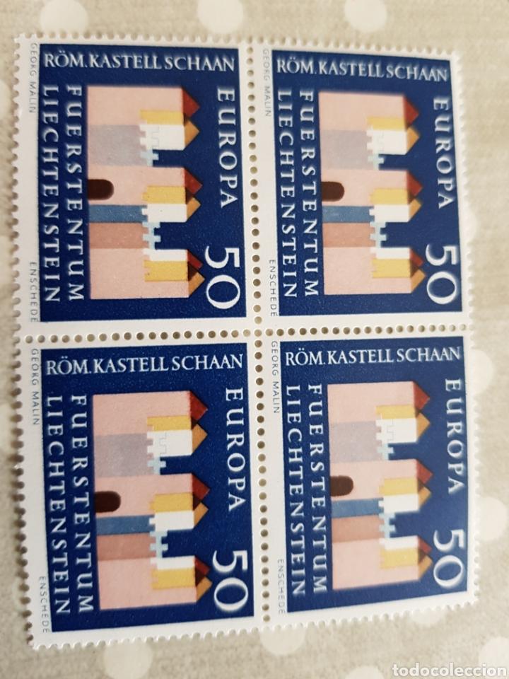 LINCHESTEIN SERIE EUROPA 1964... 4 UNID. (Sellos - Extranjero - Europa - Liechtenstein)