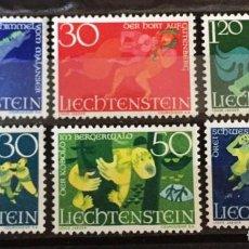 Sellos: LIECHTENSTEIN, LEYENDAS. Lote 261177570