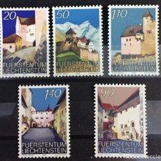 Sellos: LIECHTENSTEIN, CASTILLO DE VADUZ (I) Y (II). Lote 261350355