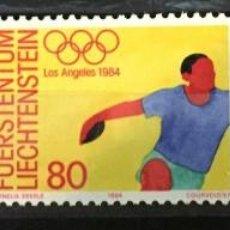 Sellos: LIECHTENSTEIN, JUEGOS OLIMPICOS DE LOS ANGELES. Lote 261354680