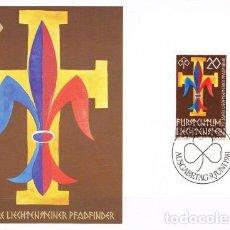 Sellos: [B0110] LIECHTENSTEIN 1981; MAXICARD L ANIVERSARIO DE LOS SCOUTS DE LIETCHENSTEIN (M). Lote 262497555