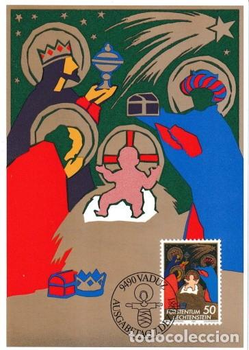 [B0114] LIECHTENSTEIN 1981; MAXICARD NAVIDAD. 50 RP (M) (Sellos - Extranjero - Europa - Liechtenstein)