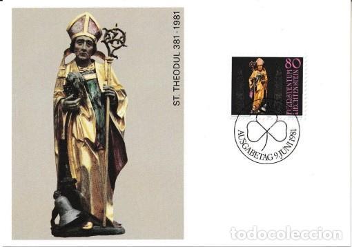 [B0116] LIECHTENSTEIN 1981; MAXICARD 1.600 ANIVERSARIO DE SAN THEODUL (M) (Sellos - Extranjero - Europa - Liechtenstein)