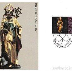 Sellos: [B0116] LIECHTENSTEIN 1981; MAXICARD 1.600 ANIVERSARIO DE SAN THEODUL (M). Lote 262658155