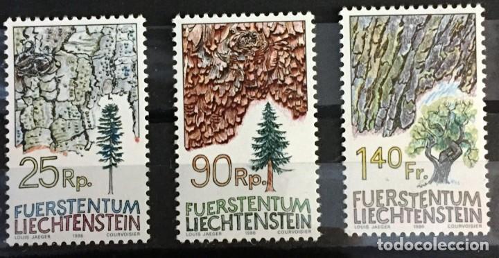 LIECHTENSTEIN, LOS ARBOLES Y SU CORTEZA (Sellos - Extranjero - Europa - Liechtenstein)