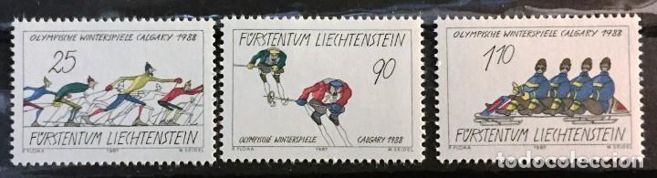 LIECHTENSTEIN, JUEGOS OLIMPICOS DE CALGARY 1988 (Sellos - Extranjero - Europa - Liechtenstein)