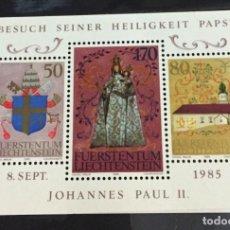 Sellos: LIECHTENSTEIN, VISITA DE JUAN PABLO II. Lote 262703660