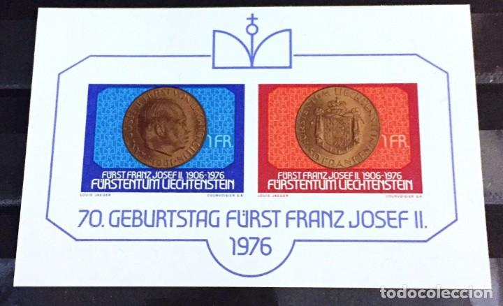 LIECHTENSTEIN, 70 ANIVERSARIO DE FRANCISCO JOSE II (Sellos - Extranjero - Europa - Liechtenstein)