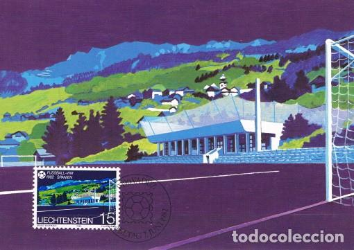 [B0117] LIECHTENSTEIN 1982; MAXICARD CAMPEONATO MUNDIAL. ESPAÑA, 15 RP (M) (Sellos - Extranjero - Europa - Liechtenstein)