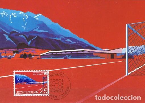 [B0118] LIECHTENSTEIN 1982; MAXICARD CAMPEONATO MUNDIAL. ESPAÑA, 25 RP (M) (Sellos - Extranjero - Europa - Liechtenstein)