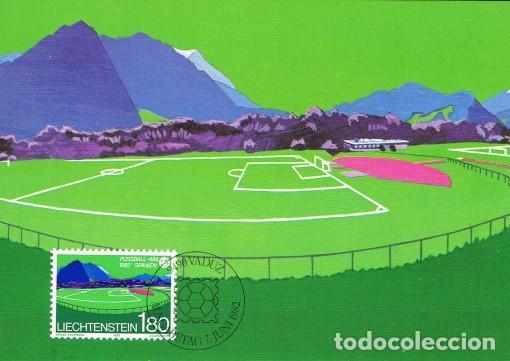 [B0119] LIECHTENSTEIN 1982; MAXICARD CAMPEONATO MUNDIAL. ESPAÑA, 1,80FR (M) (Sellos - Extranjero - Europa - Liechtenstein)