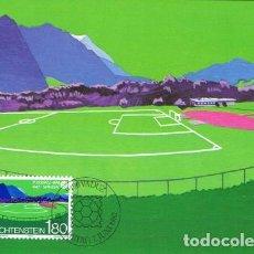 Sellos: [B0119] LIECHTENSTEIN 1982; MAXICARD CAMPEONATO MUNDIAL. ESPAÑA, 1,80FR (M). Lote 262826700