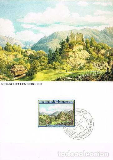 [B0120] LIECHTENSTEIN 1982; MAXICARD PINTOR MORITZ MENZINGER, 40 RP (M) (Sellos - Extranjero - Europa - Liechtenstein)