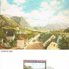 Sellos: [B0121] LIECHTENSTEIN 1982; MAXICARD PINTOR MORITZ MENZINGER, 50 RP (M). Lote 262828675