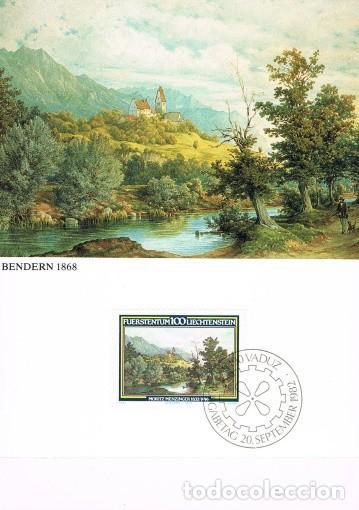 [B0122] LIECHTENSTEIN 1982; MAXICARD PINTOR MORITZ MENZINGER, 100 RP (M) (Sellos - Extranjero - Europa - Liechtenstein)