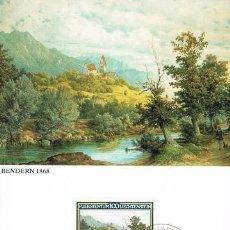 Sellos: [B0122] LIECHTENSTEIN 1982; MAXICARD PINTOR MORITZ MENZINGER, 100 RP (M). Lote 262830490