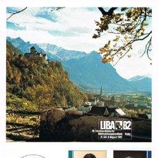 Sellos: [B0124] LIECHTENSTEIN 1982; MAXICARD SERIE LIBA '82 (M). Lote 262961830