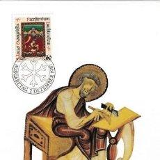 Sellos: [B0134] LIECHTENSTEIN 1987; MAXICARD NAVIDAD. LOS CUATRO EVANGELISTAS, 60 RP (M). Lote 263107480