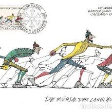 Sellos: [C0260] LIECHTENSTEIN 1987; MAXICARD JUEGOS OLÍMPICOS DE INVIERNO, 25 RP (M). Lote 263109625