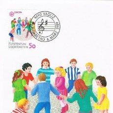Sellos: [C0279] LIECHTENSTEIN 1989; MAXICARD EUROPA: JUEGOS INFANTILES, 50 RP (M). Lote 264482439
