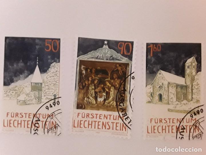 AÑO 1992 LIECHTENSTEIN SERIE USADA (Sellos - Extranjero - Europa - Liechtenstein)