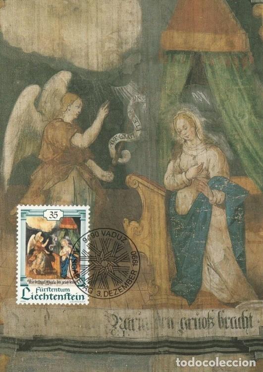 [C0310] LIECHTENSTEIN 1990. NAVIDAD. 35 RP (M) (Sellos - Extranjero - Europa - Liechtenstein)