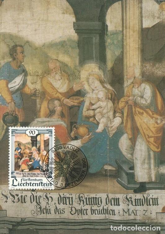 [C0312] LIECHTENSTEIN 1990. NAVIDAD. 90 RP (M) (Sellos - Extranjero - Europa - Liechtenstein)