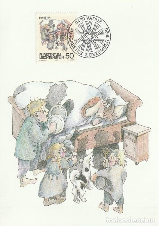 [C0314] LIECHTENSTEIN 1990. CELEBRACIONES INVERNALES. 50 RP (M) (Sellos - Extranjero - Europa - Liechtenstein)