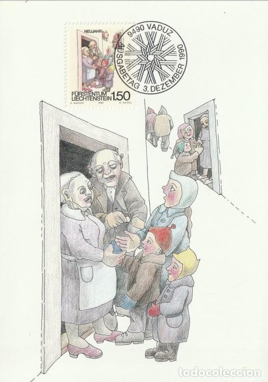 [C0315] LIECHTENSTEIN 1990. CELEBRACIONES INVERNALES. 1,50 FR (M) (Sellos - Extranjero - Europa - Liechtenstein)