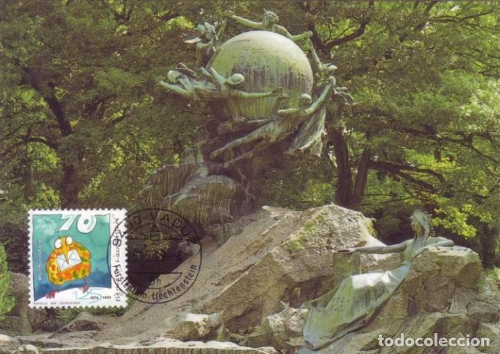 [C0339] LIECHTENSTEIN 1997. MAXICARD 125 ANIVERSARIO UNIÓN POSTAL UNIVERSAL (M) (Sellos - Extranjero - Europa - Liechtenstein)