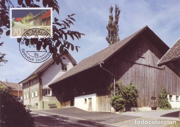 [C0341] LIECHTENSTEIN 2002. MAXICARD EDIFICIOS PROTEGIDOS. 70 RP (M) (Sellos - Extranjero - Europa - Liechtenstein)