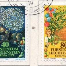 Sellos: LIECHTENSTEIN, 1981, STAMP , MICHEL ,764-765. Lote 276705093