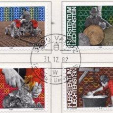 Sellos: LIECHTENSTEIN, 1982, STAMP , MICHEL ,802-805. Lote 276710248