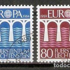 Sellos: LIECHTENSTEIN 1984. YT 778,779. EUROPA. Lote 277563473