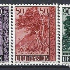 Sellos: LIECHTENSTEIN 1959 - ÁRBOLES, S.COMPLETA - MNH**. Lote 278379248