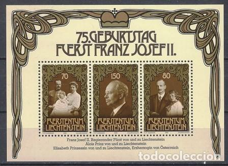 LIECHTENSTEIN 1981 - HB 75º ANIV. DEL PRÍNCIPE FRANCISCO JOSÉ II - MNH** (Sellos - Extranjero - Europa - Liechtenstein)