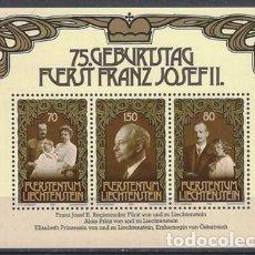 Sellos: LIECHTENSTEIN 1981 - HB 75º ANIV. DEL PRÍNCIPE FRANCISCO JOSÉ II - MNH**. Lote 278380158