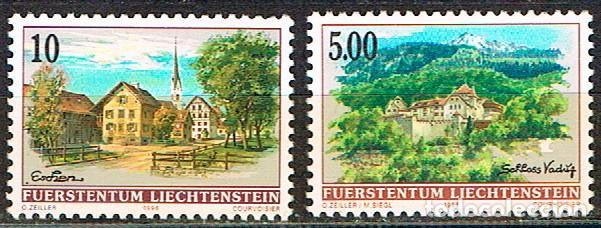 LIECHTENSTEIN IVERT Nº 1068/9, ESCHEN Y CASTILLO DE VADUZ, NUEVO *** (SERIE COMPLETA) (Sellos - Extranjero - Europa - Liechtenstein)