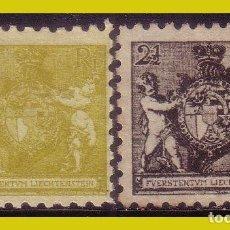 Sellos: LIECHTENSTEIN 1921, YVERT Nº 44B * Y 45B (*). Lote 286448528