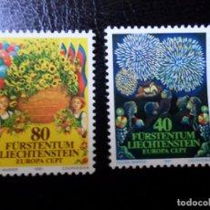 Sellos: *LIECHTENSTEIN,1981, EUROPA, IMAGENES DE LA FIESTA NACIONAL, YVERT 705/6. Lote 288073498