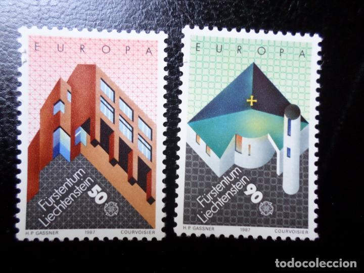 *LIECHTENSTEIN,1987, EUROPA, ARQUITECTURA MODERNA, YVERT 859/60 (Sellos - Extranjero - Europa - Liechtenstein)