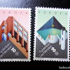 Sellos: *LIECHTENSTEIN,1987, EUROPA, ARQUITECTURA MODERNA, YVERT 859/60. Lote 288074853