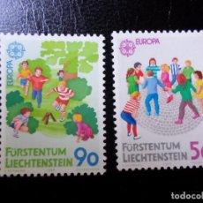 Sellos: *LIECHTENSTEIN,1989, EUROPA, JUEGOS INFANTILES, YVERT 901/2. Lote 288075598