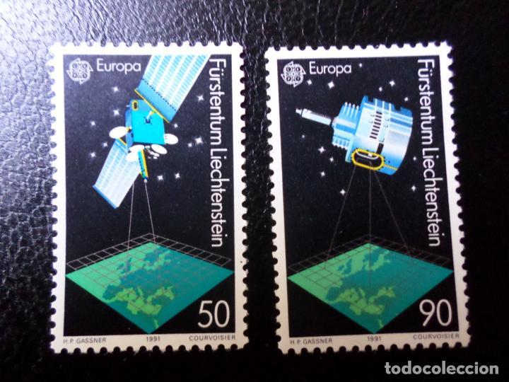 *LIECHTENSTEIN,1991, EUROPA, EUROPA Y ELESPACIO, YVERT 952/3 (Sellos - Extranjero - Europa - Liechtenstein)